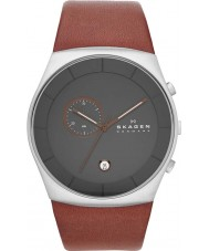Skagen SKW6085 Mens Havene Brown Leather Strap Watch