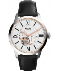 Fossil ME3104 Mens Townsman Automatic Black Leather Strap Watch