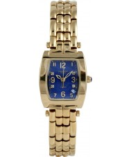 Krug Baümen 1964DLG Tuxedo Gold 4 Diamond Blue Dial Gold Strap