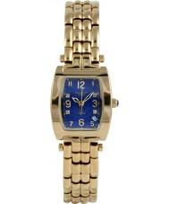 Krug Baümen 1964DLG Tuxedo Gold 4 Diamond Blue Dial Gold Strap