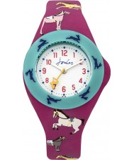 Joules JS021 Boys Pop Out Watch with Printed and Plain Interchangeable Straps