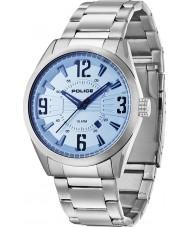 Police 13893JS-04MB Mens Memphis Silver Steel Bracelet Watch