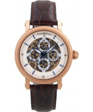 Krug Baümen 60252DM Mens Majestic Brown Leather Strap Watch