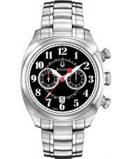 Bulova 96B162 Mens Adventurer Silver Steel Bracelet Chronograph Watch