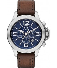 Armani Exchange AX1505 Mens Urban Brown Leather Strap Chronograph Sports Watch