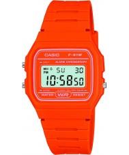 Casio F-91WC-4A2EF Mens Retro Collection Orange Chronograph Watch