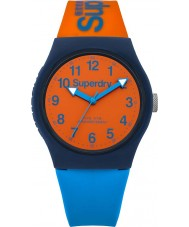 Superdry SYG164MO Urban Blue Orange Silicone Strap Watch