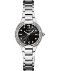Bulova 96W207 Ladies Diamond Silver Steel Bracelet Watch