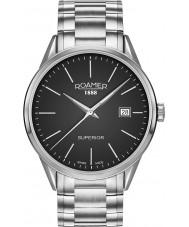 Roamer 508833-41-55-50 Mens Superior 3H Silver Steel Bracelet Watch
