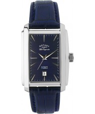 Rotary LE90012-05 Mens Les Originales Silver Blue Automatic Watch