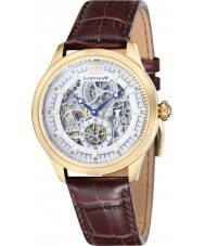 Thomas Earnshaw ES-8039-03 Mens Academy Brown Croco Leather Strap Watch
