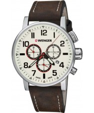 Wenger 01-0343-103 Mens Attitude Brown Leather Chronograph Watch