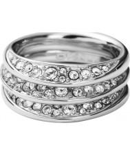 DKNY NJ1853040-505 Ladies Organic Silver Ring - Size M.5