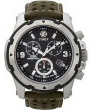 Timex T49626 Mens Black Green Expedition Rugged Field Chrono Watch