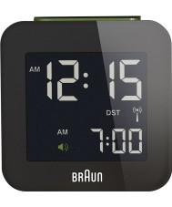 Braun Global Radio Controlled Travel Alarm Clock  Black