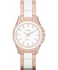 DKNY NY8821 Ladies Westside Ceramic White Rose Gold Watch