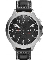 Armani Exchange AX1754 Mens Black Leather Strap Chronograph Sports Watch