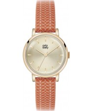 Orla Kiely OK2068 Ladies Stem Print Red Leather Strap Watch