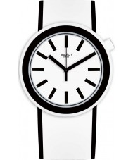 Swatch PNW100 Popmoving White Silicone Strap Watch