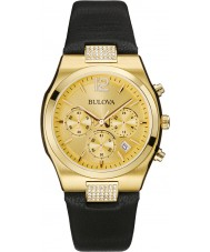 Bulova 97M107 Ladies Dress Gold Plated Chronograph Watch