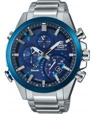 Casio EQB-500DB-2AER Mens Edifice Solar Powered Silver Dual Time Watch