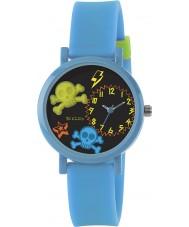 Tikkers TK0070 Boys 3D Light Blue Skull Watch