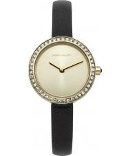 Karen Millen KM146BGA Ladies Black Leather Thin Strap Watch