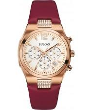 Bulova 97M108 Ladies Dress Rose Gold Plated Chronograph Watch