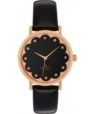 Kate Spade New York 1YRU0583 Ladies Metro Black Leather Strap Watch