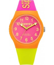 Superdry SYG164MP Urban Pink Lime Silicone Strap Watch