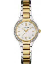 Bulova 98W221 Ladies Diamond Two Tone Steel Bracelet Watch