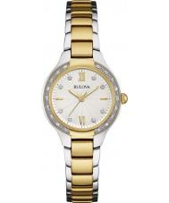 Bulova Ladies Diamond Two Tone Steel Bracelet Watch