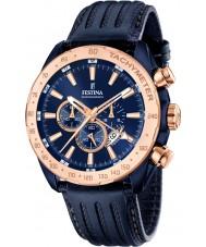 Festina F16897-1 Mens Prestige Blue Leather Chronograph Watch