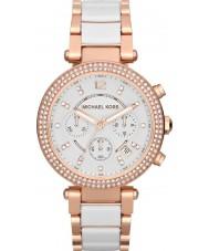 Michael Kors MK5774 Ladies Parker Two Tone Ceramic Chronograph Watch