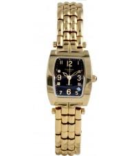 Krug Baümen 1965DLG Tuxedo Gold 4 Diamond Black Dial Gold Strap