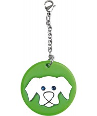 I Puppies PY-011 Dog Green Big Medallion