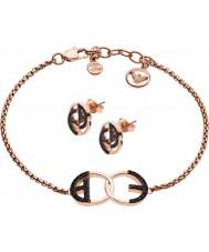 Emporio Armani EGS2587221 Ladies Bracelet and Earrings Gift Set