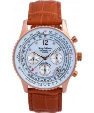 Krug-Baumen 400701DS Mens Air Traveller Tan Leather Strap Watch