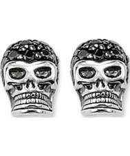Thomas Sabo H1772-051-11 Pave Skull Silver Stud Earrings