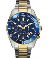 Bulova 98B230 Mens Marine Star Blue Steel Chronograph Watch