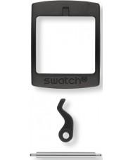 Swatch S639000222 New Gent Black Plastic Buckle-Set