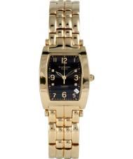 Krug Baümen 1965DMG Tuxedo Gold 4 Diamond Black Dial Gold Strap