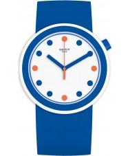 Swatch PNW103 Popiness Dark Blue Silicone Strap Watch