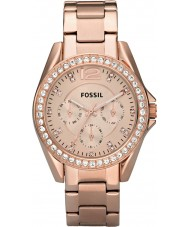 Fossil ES2811 Ladies Riley Rose Gold Steel Chronograph Watch
