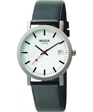 Boccia B3538-01 Mens Titanium Black Leather Watch