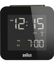 Braun Global Radio Controlled Alarm Clock  Black