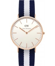 Daniel Wellington DW00100031 Ladies Classic Glasgow 36mm Rose Gold Watch