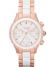 DKNY NY8825 Ladies Ceramix Two Tone Chronograph Watch