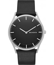Skagen SKW6220 Mens Slim Holst Black Leather Strap Watch