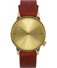 Komono KOM-W2250 Mens Winston Regal Red Leather Strap Watch
